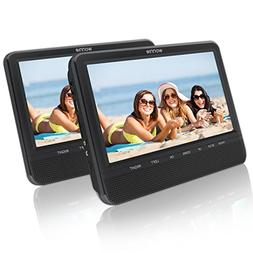 9.5'' Dual Screen DVD Player for Car Headrest Portable DVD p