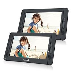 "10.1"" Dual Screen Portable DVD Player with 5-Hour Built-In R"