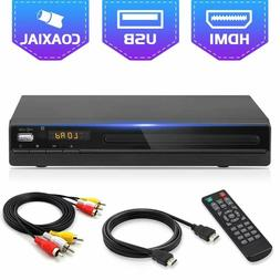 DVD Player for TV, HD1080P DVD CD Recorded Discs Player with
