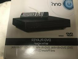 Onn DVD Player with HDMI Cables and Remote Control