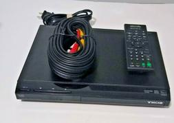 Sony  DVP-SR210P Compact Black CD/DVD Player with Remote Tes