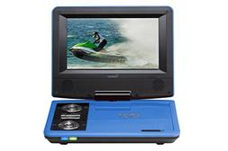 Impecca DVP775B 7 Inch Swivel Screen, Portable DVD Player, w