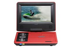 Impecca DVP775R 7 Inch Swivel Screen, Portable DVD Player, w