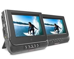 """Ematic ED727 7"""" Dual Screen Portable DVD Player"""