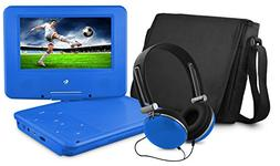 Ematic EPD707BU 7-Inch Portable DVD Player with Matching Hea