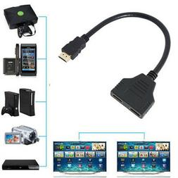 HDMI Male to 2 Female 1X2 HDMI Splitter Cable for HDTV PlayS