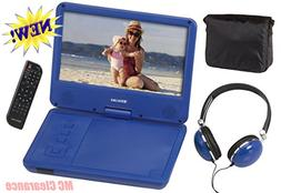 "9"" inch Portable DVD/CD Player with Swivel Screen and Fold,"