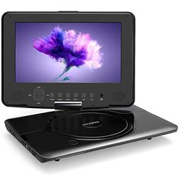 """COOAU 12"""" Kids Portable DVD Player with 360° Swivel Screen,"""