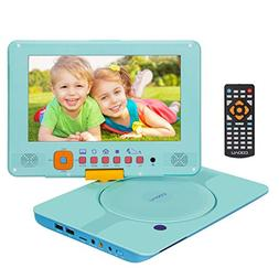 """COOAU 12"""" Kids Portable DVD Player with 9"""" Swivel Screen, 5"""