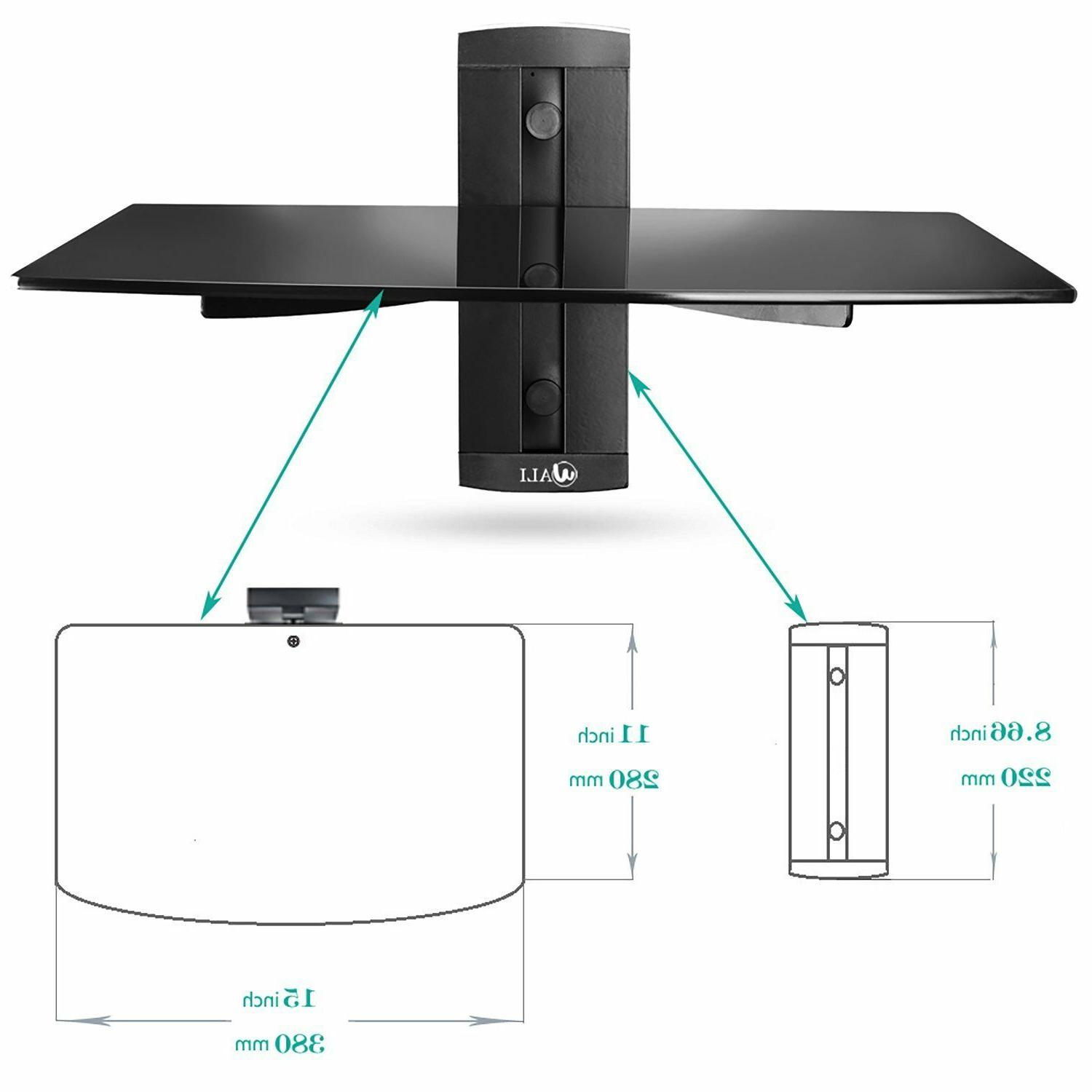1 Shelf Large Wall Mount TV Accessories Home