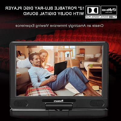 """12"""" Portable DVD Player with Dolby Sound +"""