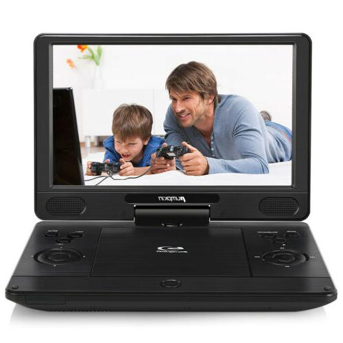 """12"""" Portable DVD/CD Player 270° Swivel Screen with Battery"""