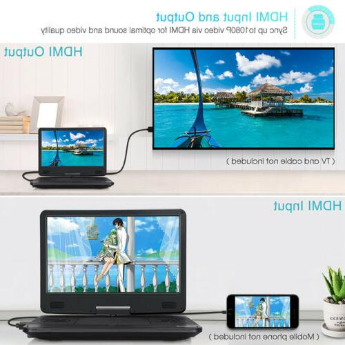 "14"" Portable Blu-Ray Player Sync Screen 1080P USB SD"