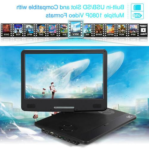 "14"" Portable Blu-Ray DVD Player Sync 1080P IN Resume"