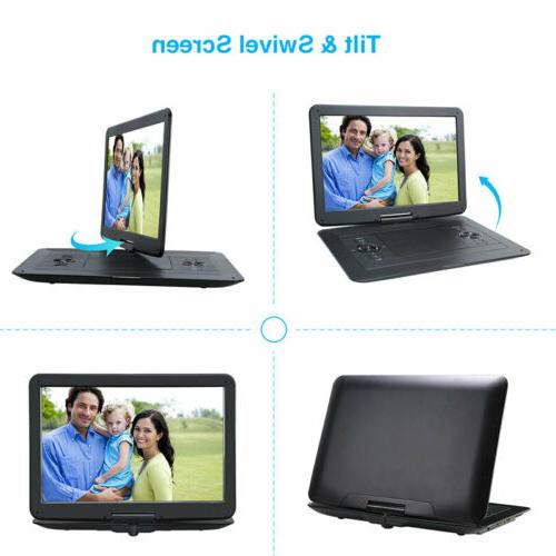 "Portable DVD Player with 15.6"" Large SD"