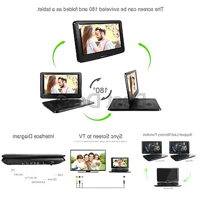 """DBPOWER 17.5"""" Portable DVD Player with Swivel"""