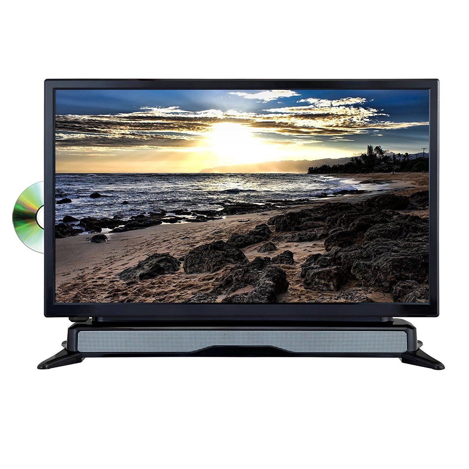 24 led tv television dvd player combo