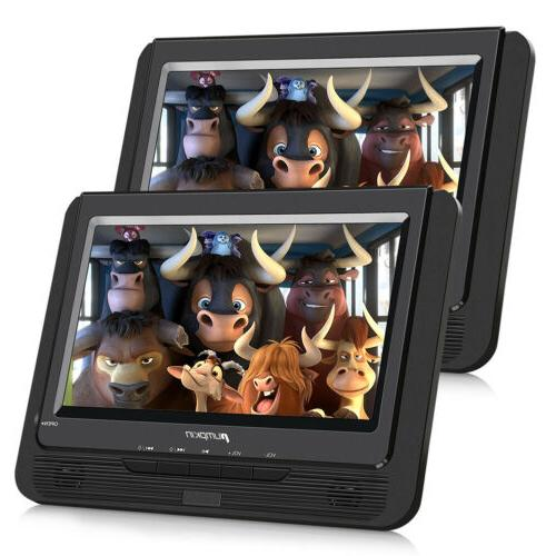 "2X 9"" Dual Screen DVD Player TFT Screen Car Backseat Headres"