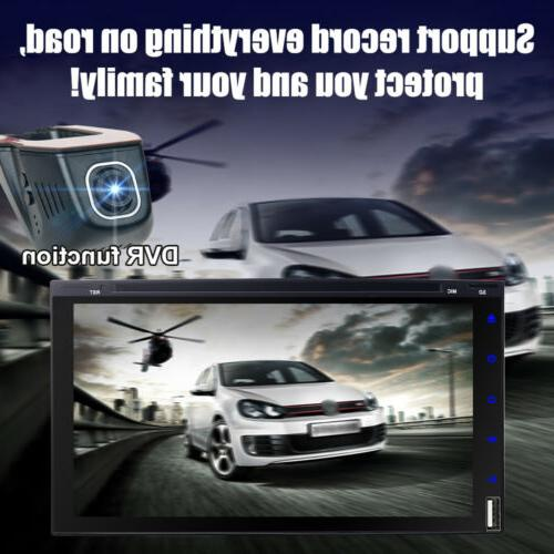 """7"""" Double Car Stereo HD DVD with Camera"""