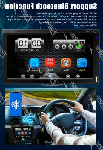 """7"""" 2 Car Stereo DVD with Backup"""
