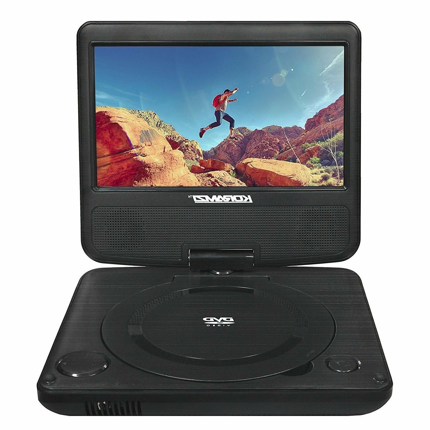 7 portable swivel dvd player w rechargeable