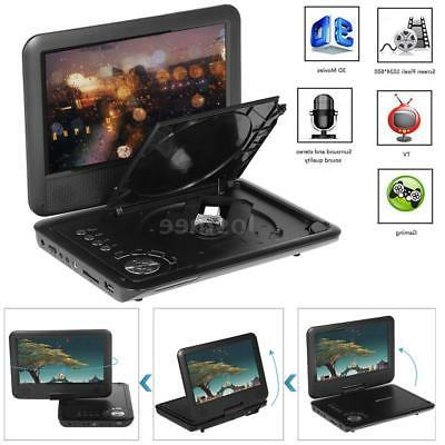 "9.5"" Portable DVD Player 270° Swivel Screen USB Car Charger"