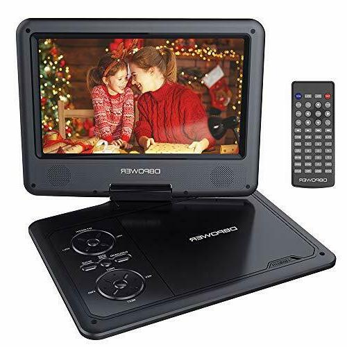 9 5 portable dvd player with swivel