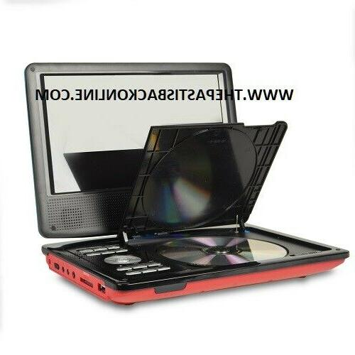 "9"" SWIVELSCREEN PORTABLE PLAYER, REMOTE & RED!!!"