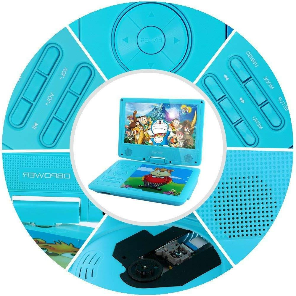 "DBPOWER 9"" DVD Player Swivel Screen,"