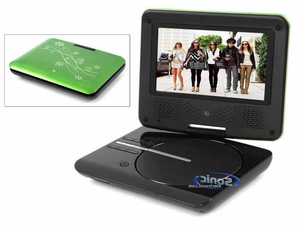 "Brand New GPX 7"" Portable DVD Player in Green"
