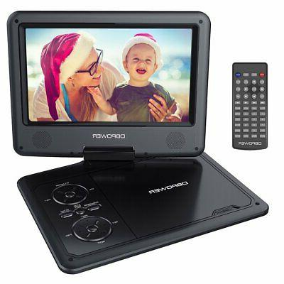 DBPOWER 9.5-Inch DVD Player Rechargeable SD USB Port -