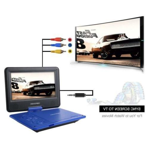 DBPOWER Portable DVD Player Battery, SD Card Slot...