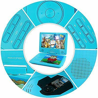 "DBPOWER 9"" Portable DVD Player for Kids, Screen, 3 Hours Bat"