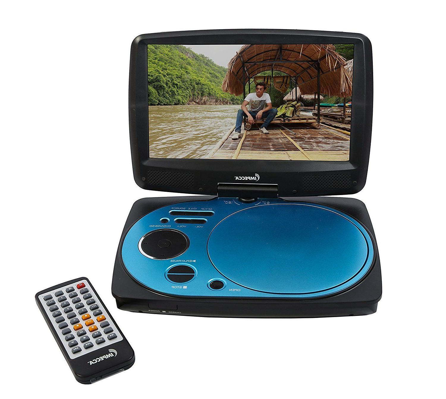 Impecca DVP916PU 9 Inch Swivel Screen Portable DVD Player Re