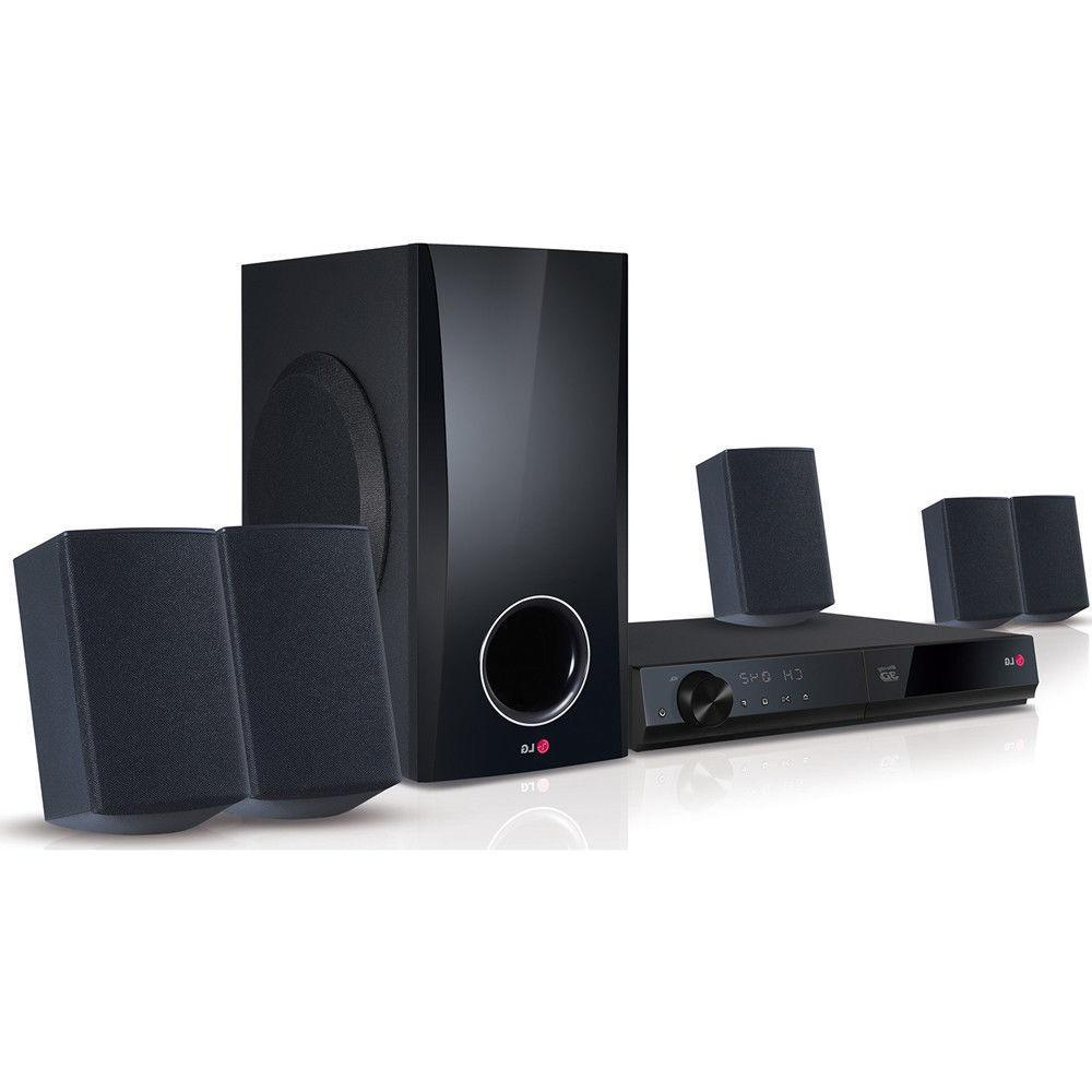 LG 5.1 Channel Home Theater System w/ Built in 3D Blu-ray/DV