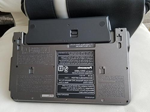 """Panasonic Portable Player with 8.5"""" Widescreen LCD Deluxe Version Carry Car Headrest Bracket, DC Adapter 6 Battery"""