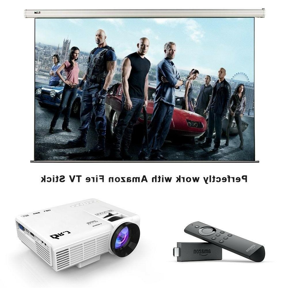 Portable LED Projector 1500 Home Theater Video Player