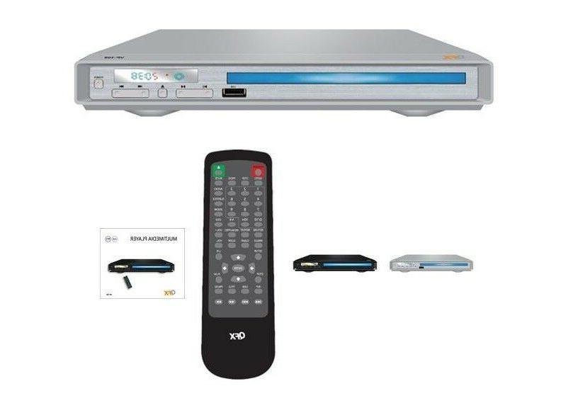 QFX VP-109 Home DVD/CD/MP3/USB Player +All Region-Free Multi