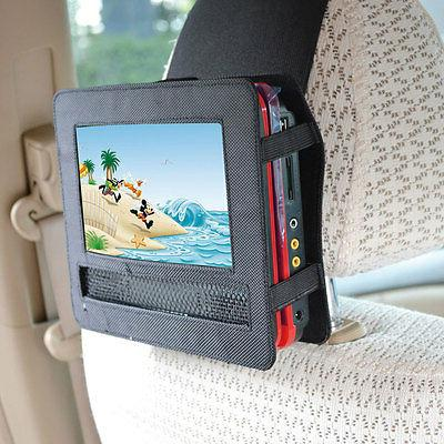 TFY 7 Inch Portable DVD Player Car Headrest Mount with Strap
