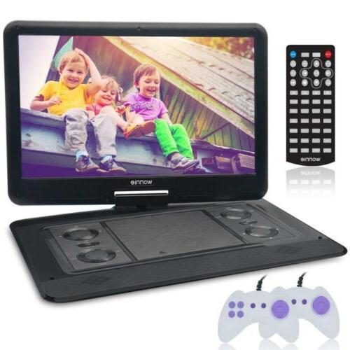 "WONNIE 15.6"" Large Portable DVD/CD Player with HD 1366x768 L"