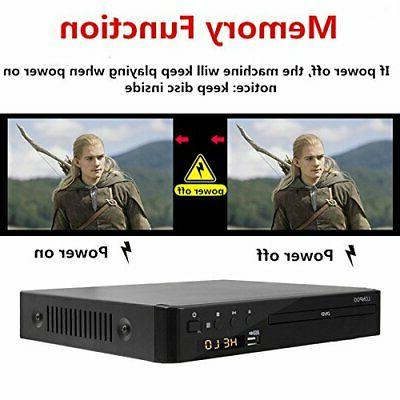 All Region Free DVD Player for TV, LONPOO Compact Player