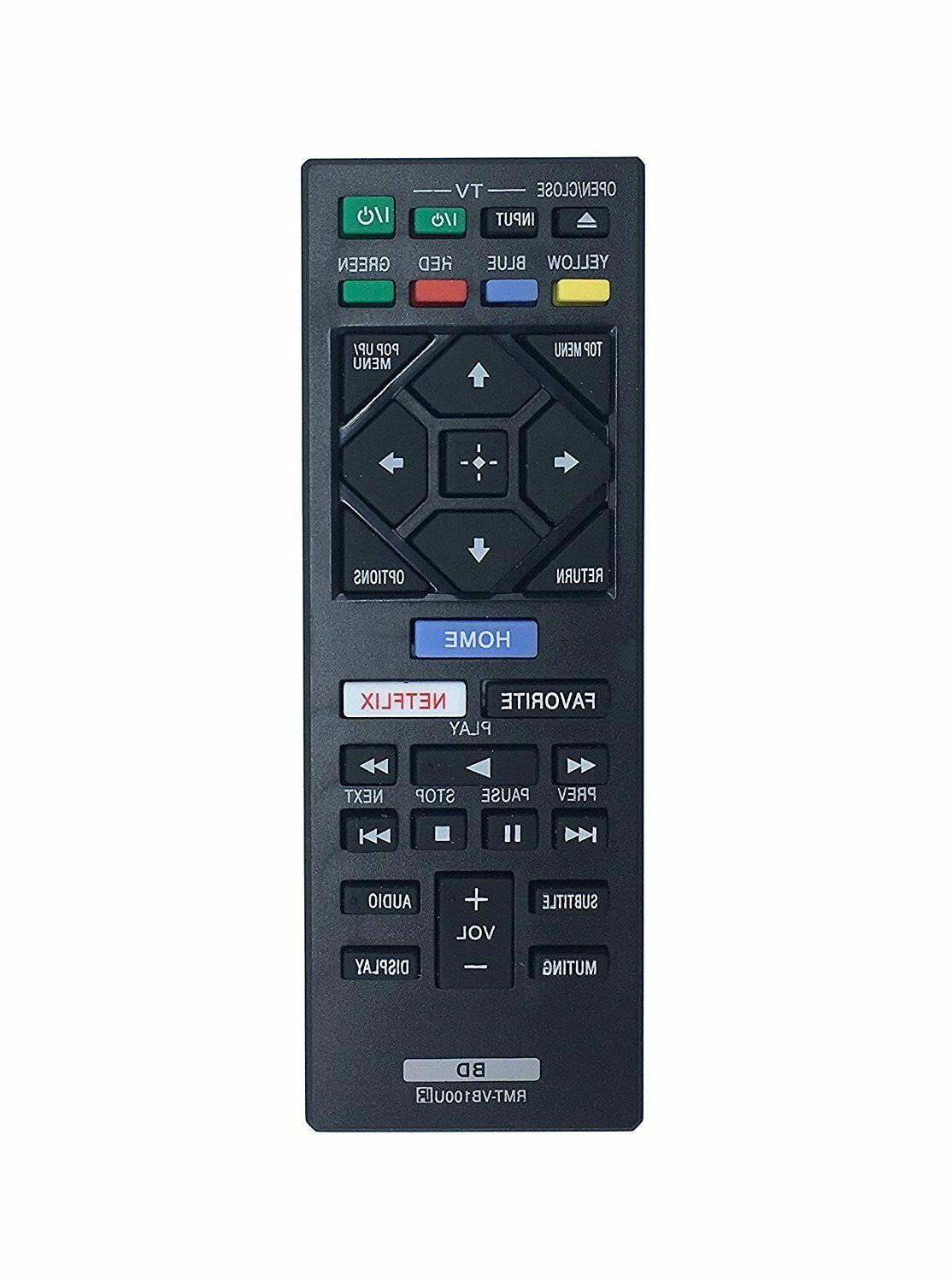 New Blu-ray DVD Player RMT-VB100U Remote Control for Sony BD