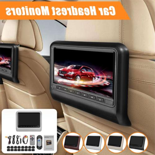 9-inch 800*480 HD LCD Screen Car Headrest DVD Player with Re