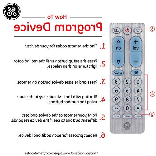 GE 2 Device Universal Remote, Works with Smart