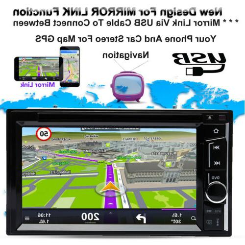 Car Bluetooth Double DVD Player Camera For GPS