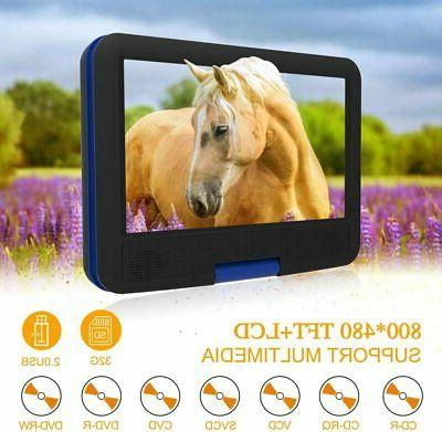 DR. J DVD Player 9.5 Swivel Screen, Rechargeable Battery