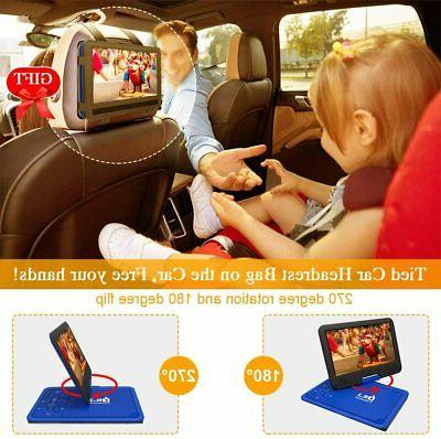 DR. Portable DVD Player With HD 9.5 Swivel Battery