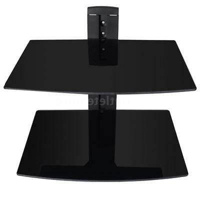 dual av receiver shelves wall bracket stand