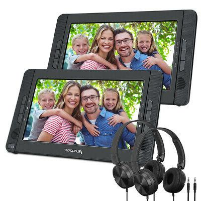 "10.1"" Dual Screen Portable Car Headrest DVD Player SD USB Re"