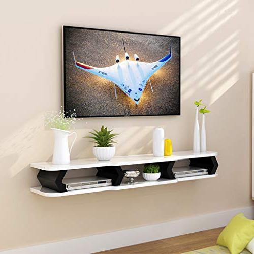 Floating Wall TV Wall Background TV Box Cable